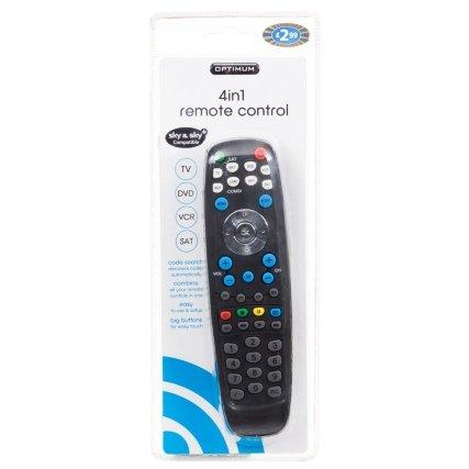 Optimum 4 in 1 Remote Control £1.50 @ B&M