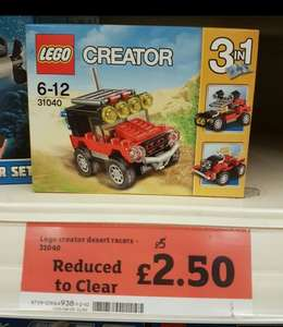Lego Creator desert racers 31040, £2.50 at Sainsburys