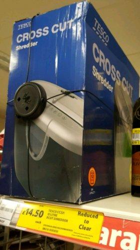 paper shredder half price £14.50 @ Tesco Sauchiehall Street