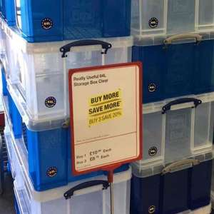 64 litre Really Useful boxes at £8.79 each if buying 3 or more INSTORE @ Staples