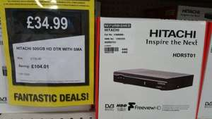 Hitachi HDR5T01 500GB Freeview+ HD Smart Digital TV Recorder 116/8305 £34.99  Argos Clearance Bargains Stanley.