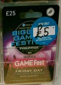 Insomnia58 single day tickets - £5 with any purchase in-store (was £25) @ Game