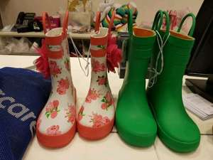 Pair of wellies at Mothercare was £13 now £1.00 in store Westfield White City