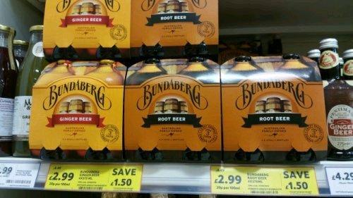 Bundaberg Root beer / Ginger beer reduced £2.99 in Tesco