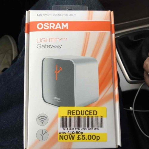 Osram Lightify Gateway remote control lighting £5 tesco Bournemouth