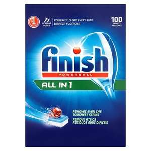 Finish All in One Dishwasher Tablets Original, 100 Tablets  @ Amazon £10 (Prime)