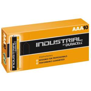 Duracell Industrial AAA Alkaline Batteries x 10, £1.95 delivered @ UKDAPPER