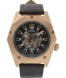 Rotary Men's Fusion Brown Strap Skeleton Watch £69.99 @ Argos