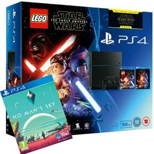 Lego Star Wars + Force Awakens Blu-ray PS4 500GB PLUS No Man's Sky £269 @ Tesco Direct (Using Code) [1TB version £299]