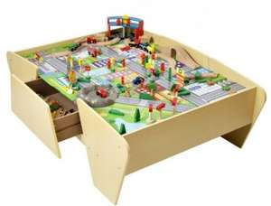 Plum Train and Track Wooden Activity Table with Accessories (was £250) now £112.50 at Debenhams
