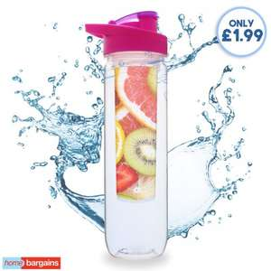 fruit Infuser water bottle £1.99 instore at Home Bargains