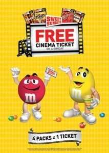 2 Cinema Tickets and 2kg of m&m's for £12 @ Tesco