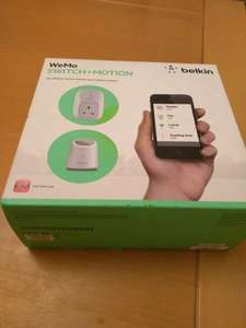 Wemo switch plus motion £9.99 at staples instore