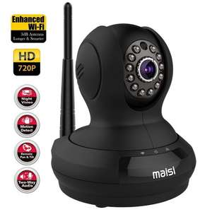 Network IP Camera, MAISI Indoor Wireless Day Night Pan/Tilt Baby Monitor / Surveillance Network IP Camera (HD 1280x720p Mega-Pixels, Two Way Talk,Mic & Speaker, iOS & Android View, Motion £39.99 Sold by Maisi_Direct  Fulfilled by Amazon