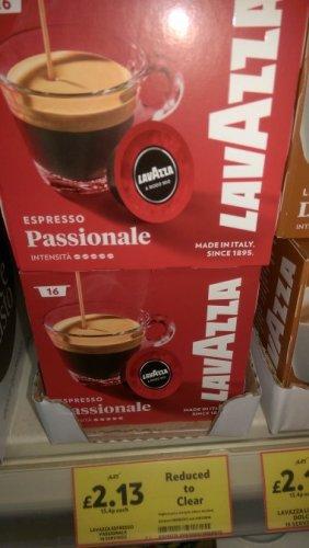 16 lavazza coffee pods expresso & dolce £2.13 @ Tesco - Market harborough