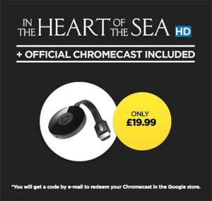 Chromecast 2 + HD copy of In the Heart of the Sea £19.99 - Wuaki.tv