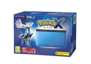 Nintendo 3DS XL Handheld Console Pokemon X Game Blue & Black (Refurb) £109  Tesco on eBay