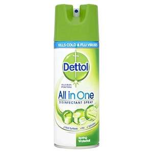Dettol All in One Disinfectant Spray Spring Waterfall 400 ml (Pack of 3) £3.19 with Amazon S&S