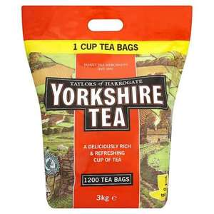 1200 yorkshire teabags £12.99 @ Makro (£4.99 del if under £60 spend)