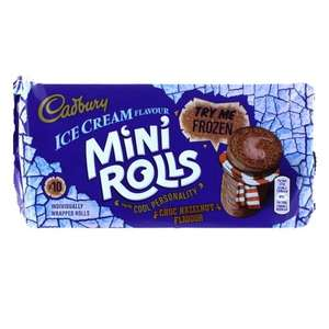 Cadbury mini rolls 10 pack reduced from 2.50 to 63p Sainsburys Strathaven