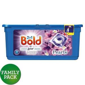 Morrisons: Bold 2in1 Pearls Lavender & Camomile Washing Capsules 29 washes 29 per pack(Product Information)