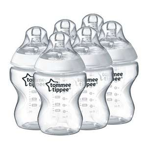 6 pack of Tommee Tippee Bottles  Free with Topcashback! - Spend £10 get £10 back