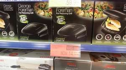 Bite size George forman grill half price £14.99 & b&m