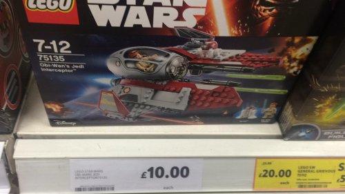 LEGO Star Wars Obi-Wans Jedi Interceptor 75135 £10 @ TESCO