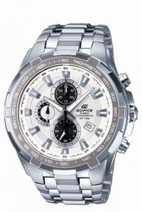Casio Edifice Chronograph White Dial Watch (EF-539D-7AVEF) RRP £150.00 now  £74.99 & Free UK Delivery in the UK @ WatchO