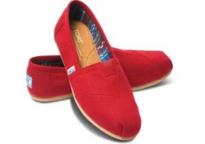 TOMS Shoes Red Canvas Classic Espadrilles Casual Slip On Flats Loafers £17.99 (£2.99 del Free over £20) @ Scorpion Shoes