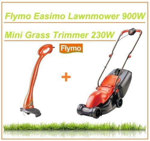 Flymo Easimo Electric Lawnmower 900W 32cm Metal Blade & Mini Trim Strimmer 230W £49.99 @ refurbishedofferscouk / Ebay
