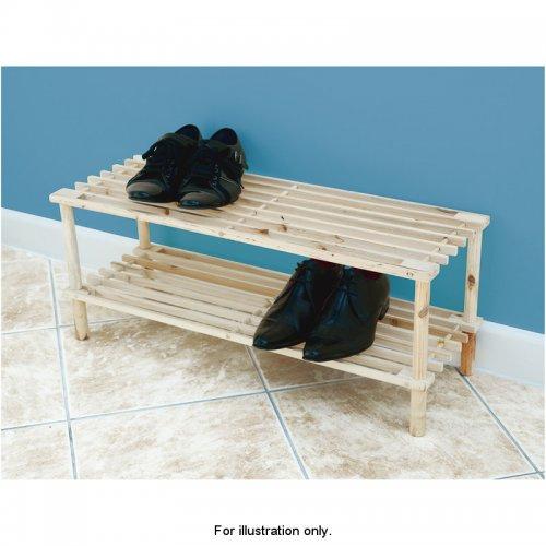 2 Tier Wooden Shoe Rack £1 @ B&M [clearance]