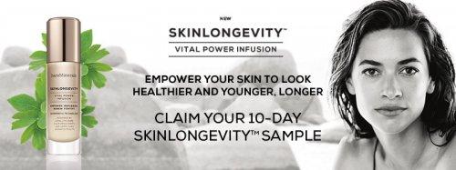 SkinLongevity™ 10-Day Sample* and skincare consultation.