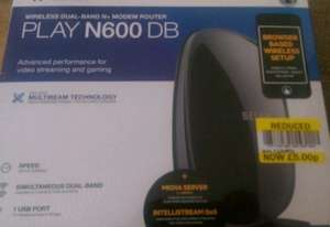 belkin n600 db wireless router reduced to £5 @ Tesco Merthyr