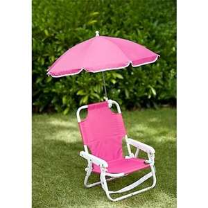 Kids Chair with Parasol  £1.99@ b&m £9.99 Hammocks in comments