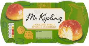 Mr. Kipling Exceedingly Good... Golden Syrup / Lemon / Cherry Bakewell / Raspberry Sponge Puddings (2 x 95g) ONLY £1.00 @ Asda