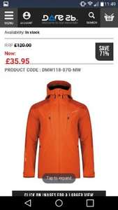 Stalwart Waterproof Jacket - Pumpkin Orange was £120!!! now £35.95 + £3.95 del @ Dare2b