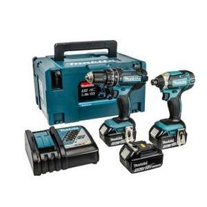 Makita DHP482Z Drill & DTD152Z Impact driver with THREE 3Ah batteries. £234.99 delivered @ Uk Tool mart
