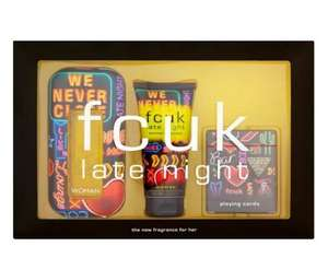 French Connection UK Late Night Her  Eau De Toilette 100ml Gift Set for only £11.50 (RRP £40!) at thefragranceshop + free c&c