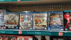 Barbarossa - Siege Lord, District 13 - Ultimatum, Lebanon - The Soldier's Journey and Muppets From Space £1 @ Poundland