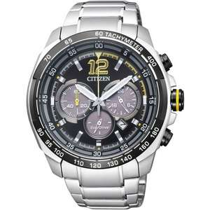 CITIZEN MENS ECO-DRIVE AVIATOR BLACK DIAL CHRONOGRAPH WATCH £111 @ Watchco