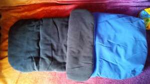 Blue or pink fleece lined footmuff