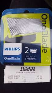 Philips One Blade 2 Replacement Blades £5 instead of £20 Tesco in store