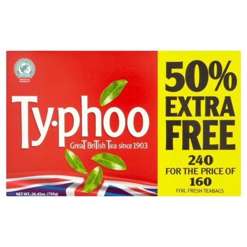 240 Typhoo Tea Bags (160+50% free) - £1.99 @ Farmfoods (