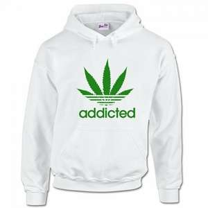 Men's Addicted Cannabis Weed Leaf Parody Hoodie - £5.97 with Prime or free delivery with orders over £20 - Sold byBang Tidy Clothing Ltdand Fulfilled by Amazon @ Amazon
