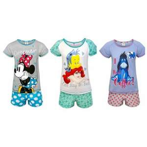 Minnie Mouse, Eeyore, Little Mermaid - Official Gift Ladies Short Pyjamas (all varieties and prices in comments) - Various prices starting from £7.99 inc del @ Amazon, sold by and fulfilled by clickusave