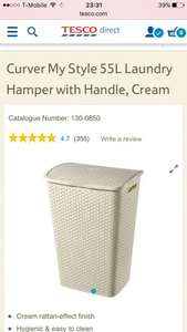 Curver laundry hamper 55l £8 @ tesco