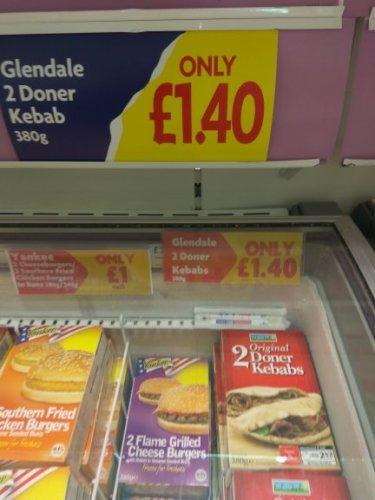 2 Doner Kebabs @ Heron foods - £1.40