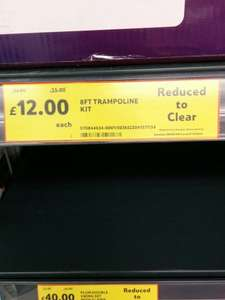 8ft Trampoline Kit was £44 now £12 @ Tesco (Bournemouth Riverside)