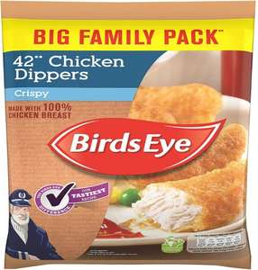 Birds Eye Crispy Chicken (50%) Dippers (42 per pack - 770g) was £4.00 now £2.50 @ Tesco